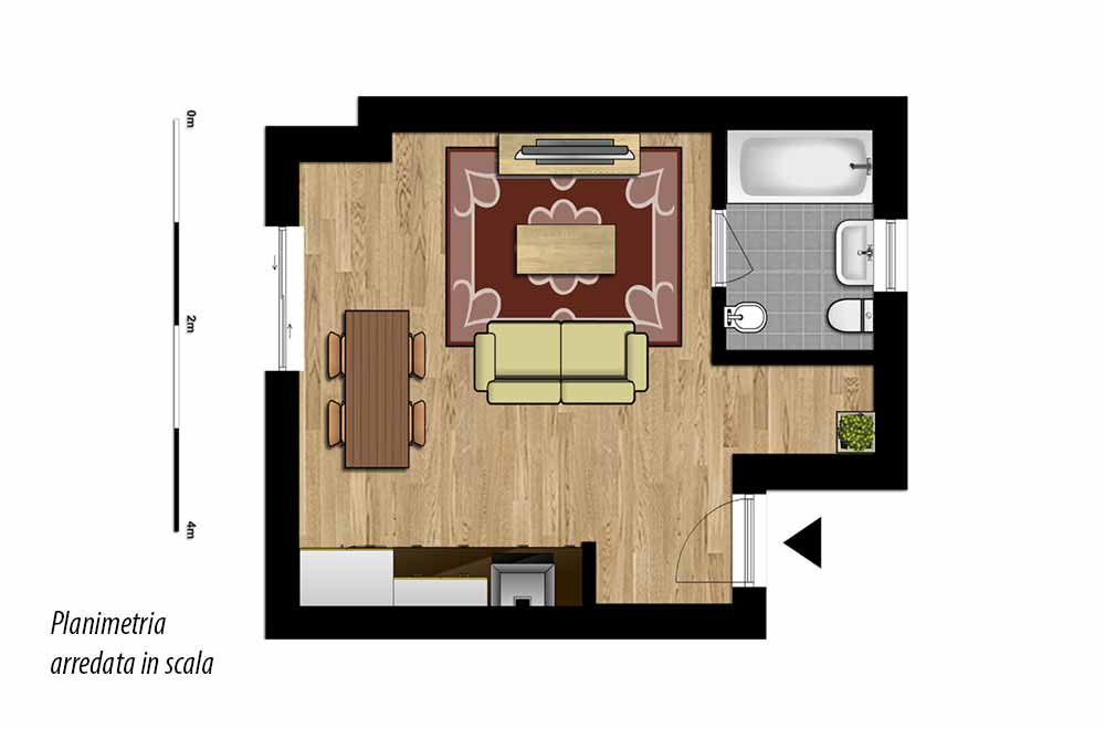 San marco immobiliare categoria monolocale for Log planimetrie nuove case